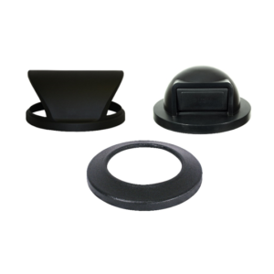 Witt Industrial Trash Can Black Hood, Flat, and Dome Top Plastic Lids