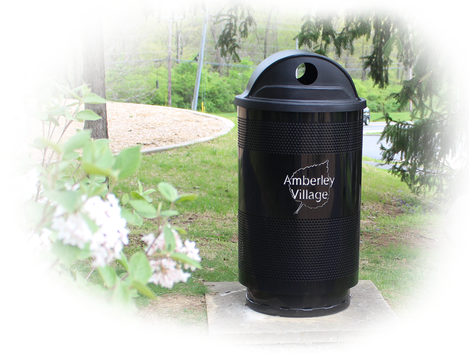 Custom Logo Amberley Village Commercial Waste Receptacles Faded