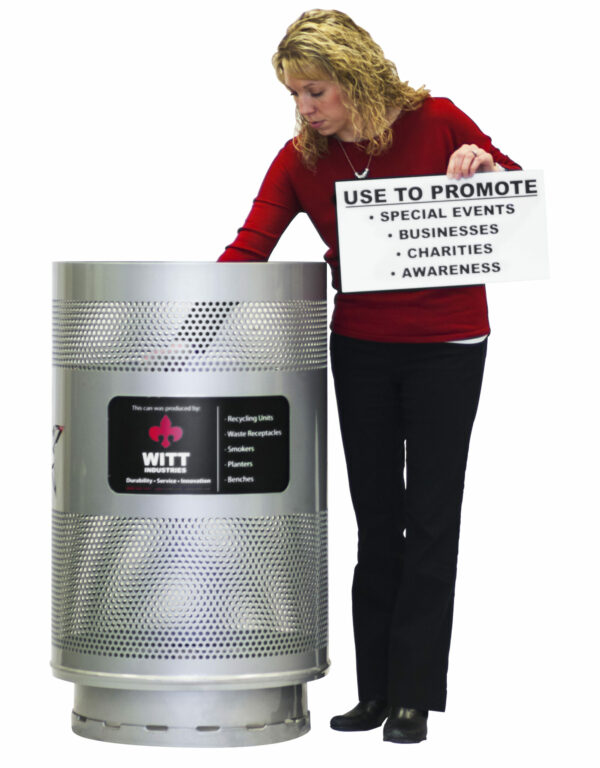 Witt Industries Industrial Trash Can Message Center Demo