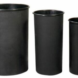 Custom Logo Industrial Trash Can Black Stadium Liners