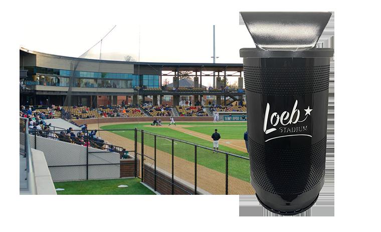 Witt Custom Logo Loeb Stadium Industrial Trash Can Transparent Background