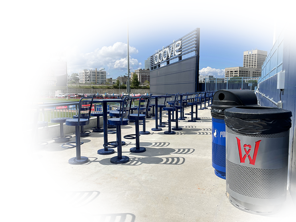 Witt Custom Logo Worcester Red Sox Stadium Commercial Waste Receptacles